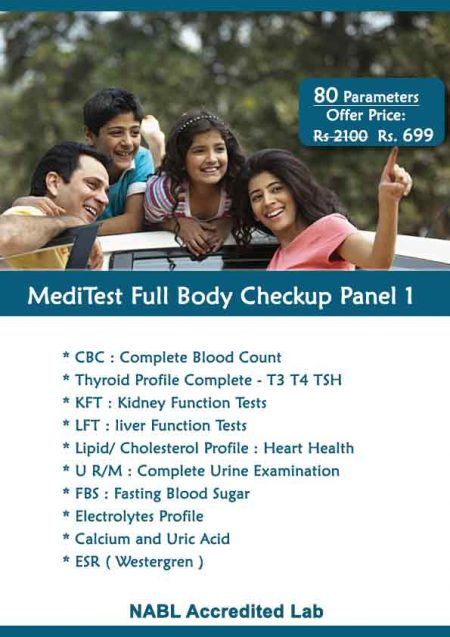 Full Body Checkup panel 1